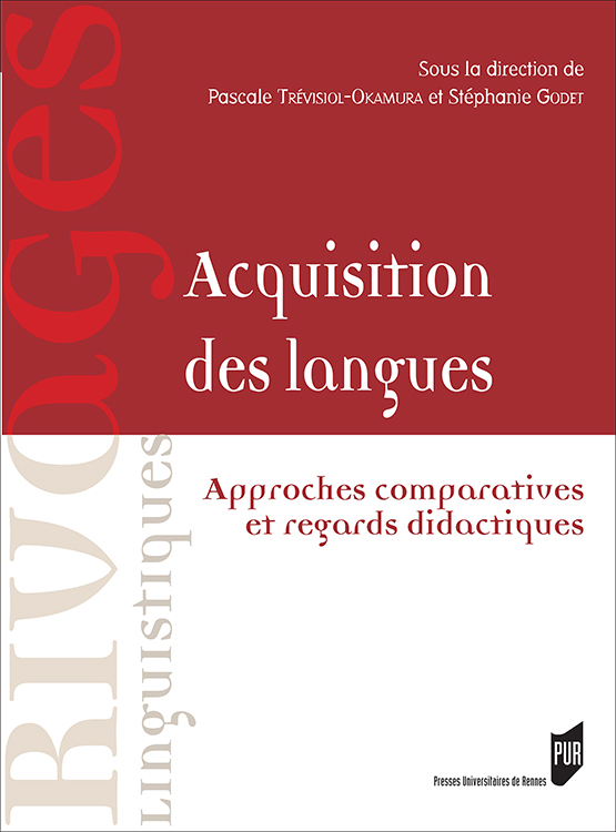 "Page de couverture de ""Acquisition des langues : approches comparatives et regards didactiques"""