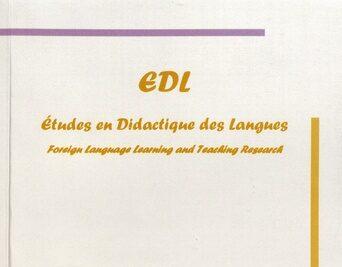 """Page de couverture de """"Études en didactique des langues"""""""