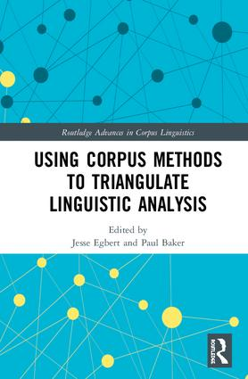 "Page de couverture de ""Using Corpus Methods to Triangulate Linguistic Analysis"""