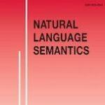 """Page de couverture de """"Natural Language Semantics"""""""
