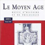 """Page de couverture de """"Moyen-Âge. Revue d'Histoire et de Philologie"""""""