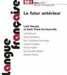"""Page de couverture de """"Langue Française"""""""