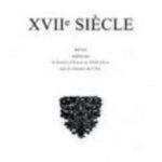 """Page de couverture de """"Dix-Septième Siècle"""""""