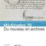 """Page de couverture de """"Médiévales"""""""