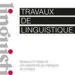 """Page de couverture de """"Travaux de Linguistique"""""""
