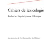 cahiers de lexicologie