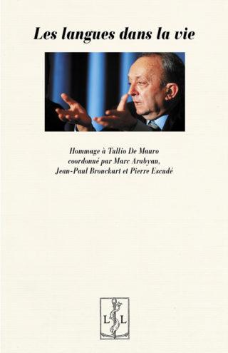 """Page de couverture de """"Les langues dans la vie. Hommage à Tullio de Mauro"""""""