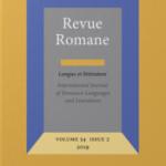 """Page de couverture de """"Revue Romane"""""""