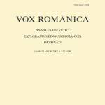 """Page de couverture de """"Vox Romanica"""""""
