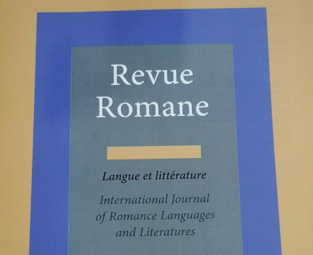Page de couverture de la Revue Romane